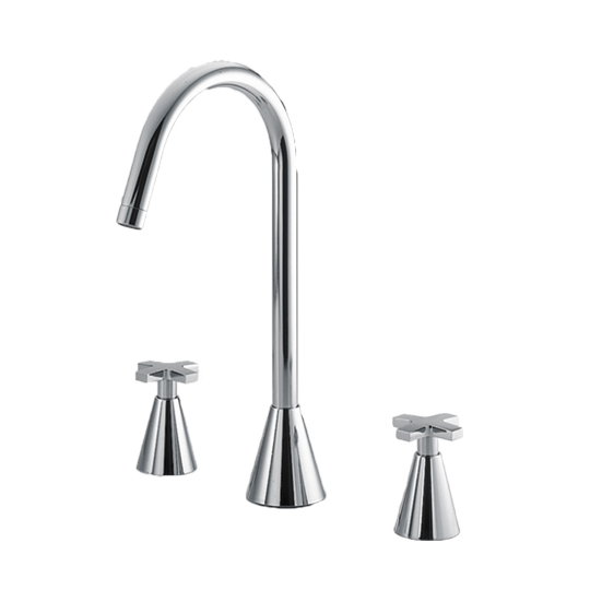 Two-Handle Widespread Basin Faucet