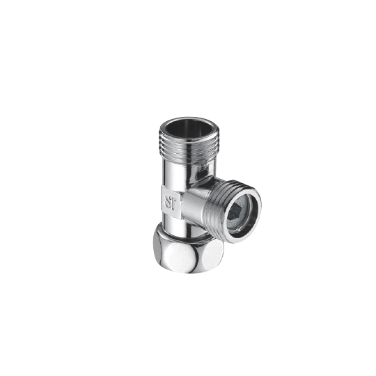 Swivel Tee 1/2G W/Flow Control Valve (Chrome-Plated Without Polish)