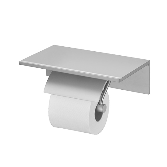 Single Toilet Tissue Holder W/Shelf (Aluminum W/Anodizing)