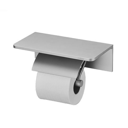 Single Toilet Tissue Holder W/R Corner Shelf (Aluminum W/Anodizing)