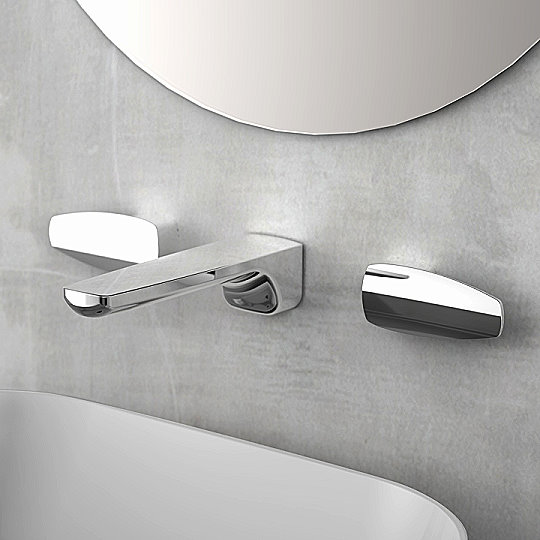 Pan 2 Two-Handle Wall-Mounted Basin Faucet