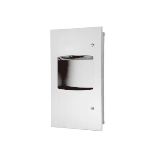 Recessed Paper Towel Dispenser & Waste Receptacle
