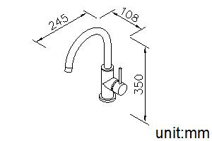 6771-GX-80CP Filtered Water Kitchen Faucet (Lead-Free Brass)