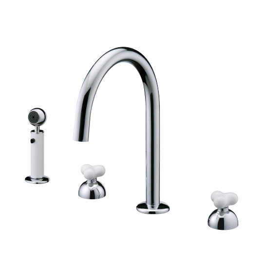Two-Handle Kitchen Faucet W/Sprayer
