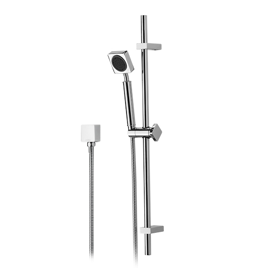 Slide Bar Set W/Hand Shower & Hose & Wall Supply